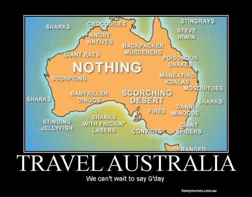 Signs you have backpacked Australia