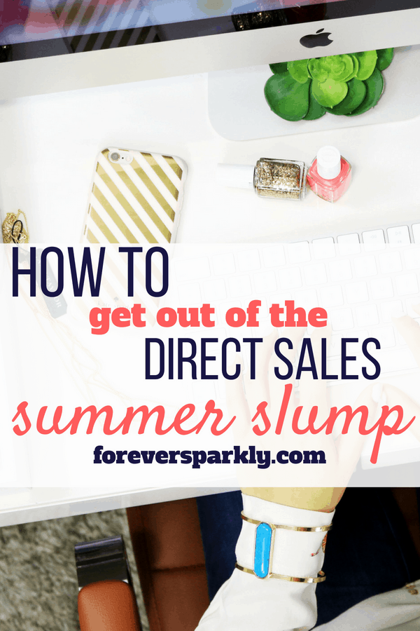 Experiencing a drop in sales? Click to read 5 ways to beat the sales slump in your direct sales business! #directsales #facebookparties #directsalestips