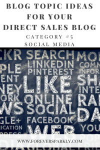 One category of direct sales topics for your direct sales blog is to write about direct sales and social media. Click to read all 15 inspirational blog topic ideas for your direct sales blog. Kristy Empol
