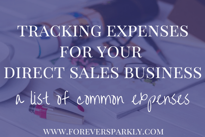 Tracking Expenses for your Direct Sales Business