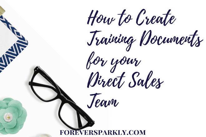 How to Create Training Documents for your Direct Sales Team