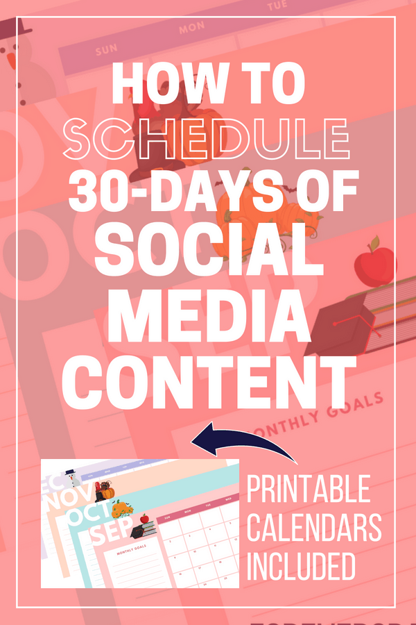 Learn how to schedule 30 days of social media posts quick and fast. Schedule your social media posts ahead of time for your home based business. #directsales #blogger #socialmedia #marketingtips
