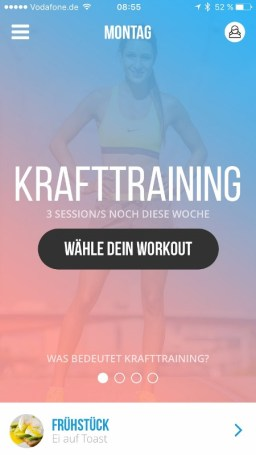 Sweat with Kayla Krafttraining