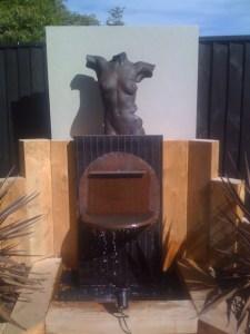 torn rusticated sculpture outdoors