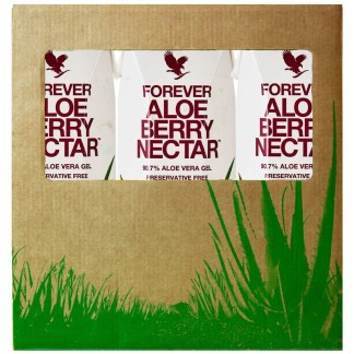 Forever Tripack Aloe Berry Nectar (Χυμός αλόης βέρα με cranberry και μήλο, σε συσκευασία τριών τεμαχίων)
