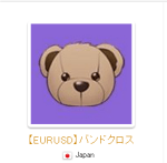 【EURUSD】バンドクロス