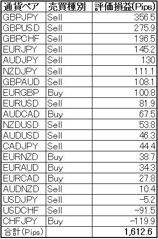 FX自動売買 依然高い評価損益をキープ