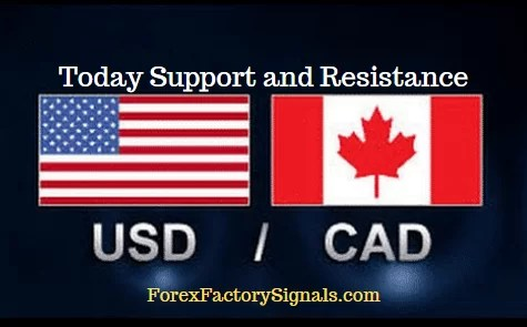TODAY USDCAD SUPPORT AND RESISTANCE LEVEL'S