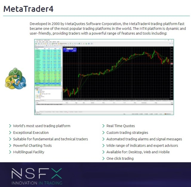 NSFX MT4 Trading con cuenta islámica NSFX
