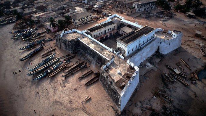Aerial view of Fort Williams, Anomabu, Ghana