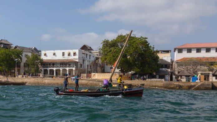 A dhow near Lamu Old Town