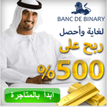Advertisement for Banc De Binary, which depicts possible client as dressed in traditional Arab Gulf garb. (Courtesy: screenshot from islamicbinaryoptions.com)