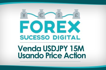 Forex Price Action: Venda USDJPY Time Frame 15M