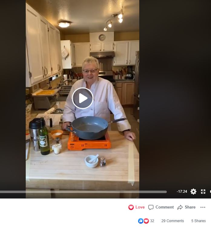 Screenshot of a Facebook Live video