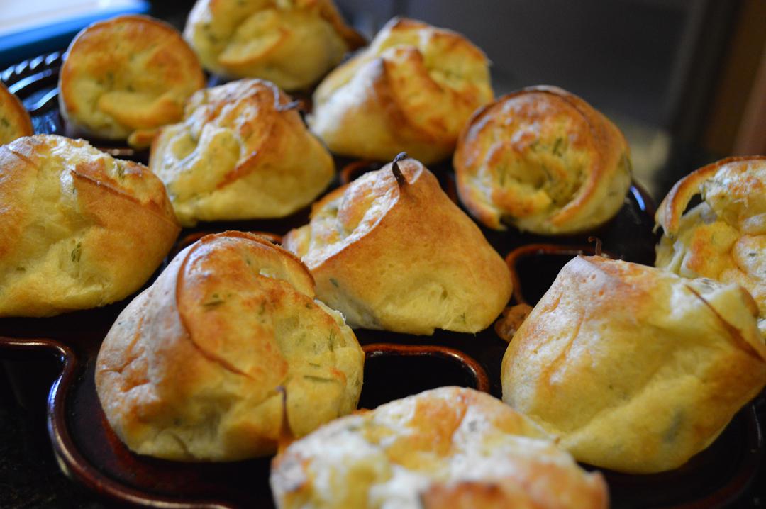Homemade rosemary popovers | ForFriends Inn