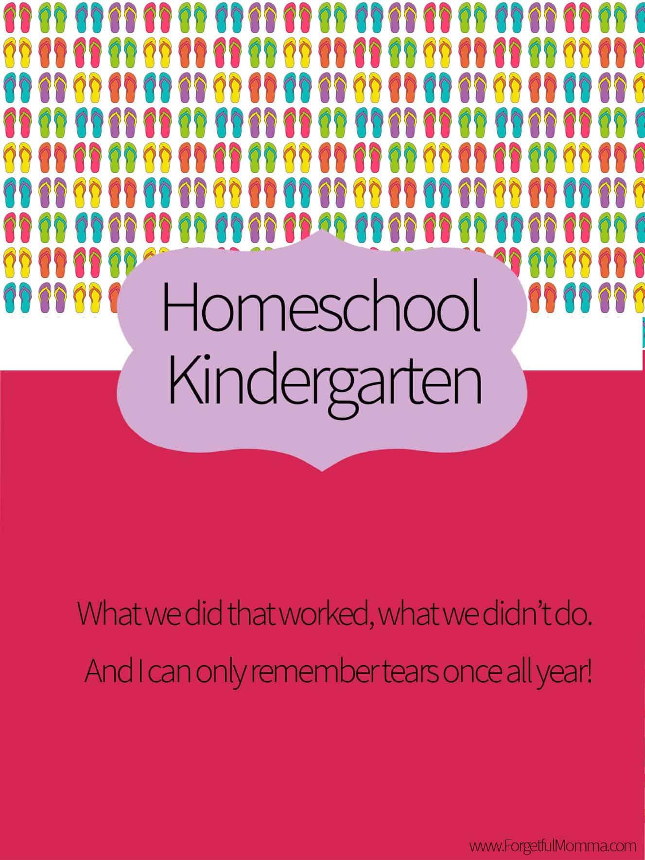 How We Homeschool Kindergarten