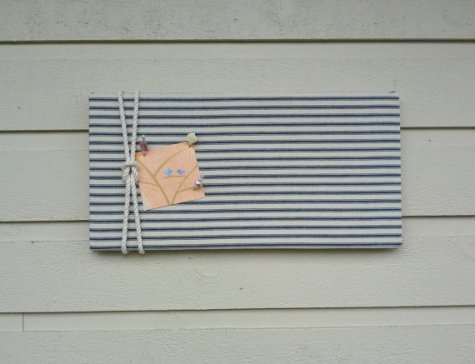 https://www.etsy.com/ca/listing/470555582/linen-ticking-pin-board-blue-and-white?