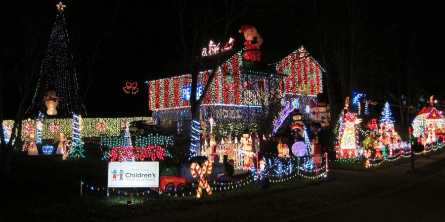 Spectacular display of Christmas lights