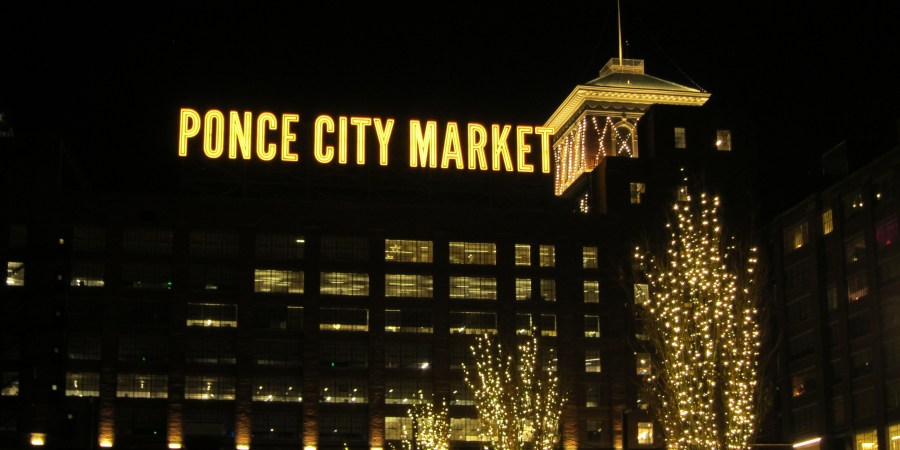 Ponce City Market at night