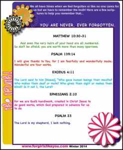 You Are Not Forgotten- Scripture Download for Girls