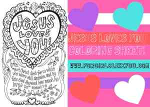 Jesus Loves Me {Printable Color Me Valentine's Day Card!}