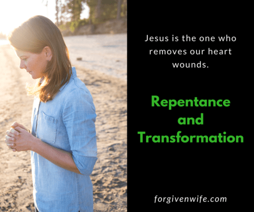 Jesus is the one who removes our heart wounds.