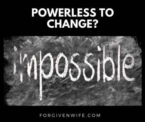 Do you feel powerless to make changes in your marriage?