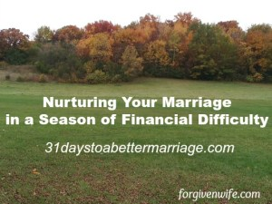 How can you nurture your marriage when you're dealing with stress from your finances?