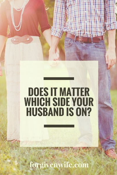 Does it matter which side your husband is on?