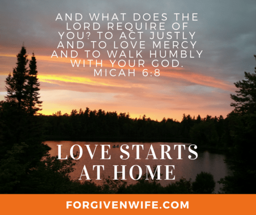 Love has to start somewhere, so why not start with your husband?