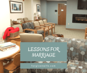 Even a hospitalization can give us some lessons about marriage.