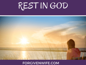 Seek God's presence and just rest there for a bit.