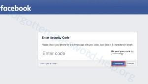 Reset your Facebook password step 4