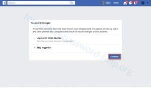 Reset your Facebook password step 6