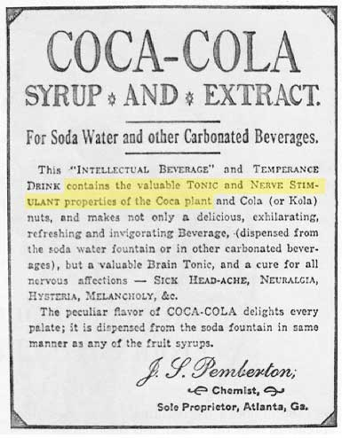 Coca-Cola's Secret Ingredient Used to be Cocaine