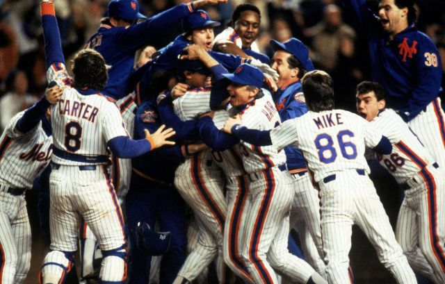 NY Mets win 1986 World Series