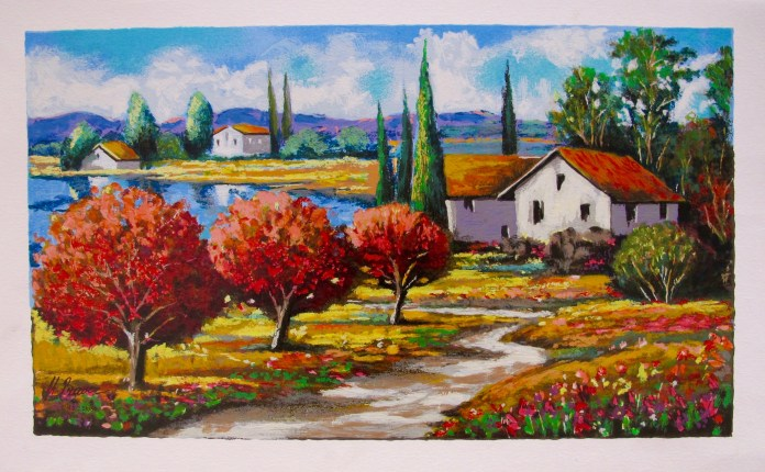 """MARK BRAVER """"SEASON OF BLOOM"""" Hand Signed Limited Edition Serigraph"""
