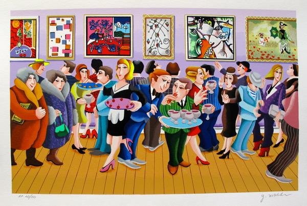 Yuval Mahler OPENING DAY Hand Signed Limited Edition Serigraph