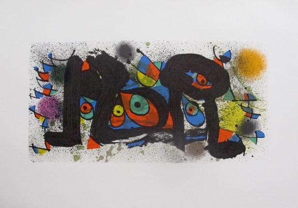 Joan Miro SCULPTURE, PLATE 1 Stone Lithograph