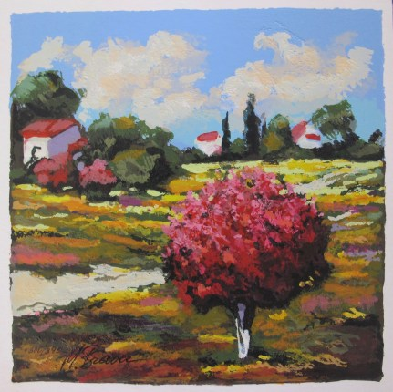 "MARK BRAVER ""SPRING FIELDS"" Hand Signed Limited Edition Serigraph"