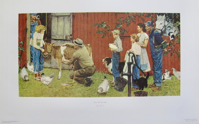 NORMAN ROCKWELL COUNTY AGRICULTURAL AGENT 1973 Plate Signed Collotype Art
