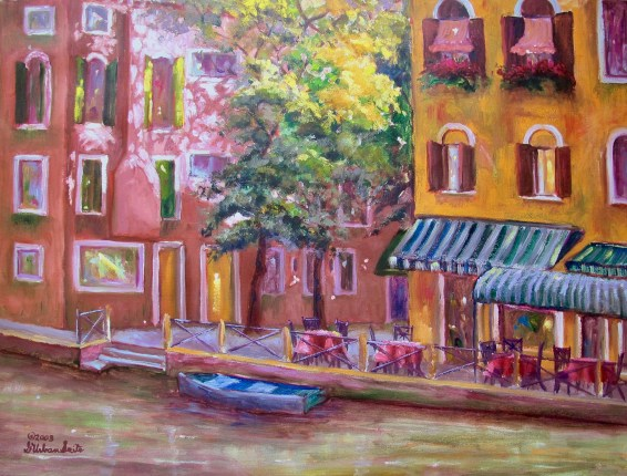 G Urban Srite VENICE CANAL Facsimile Signed Giclee on Canvas