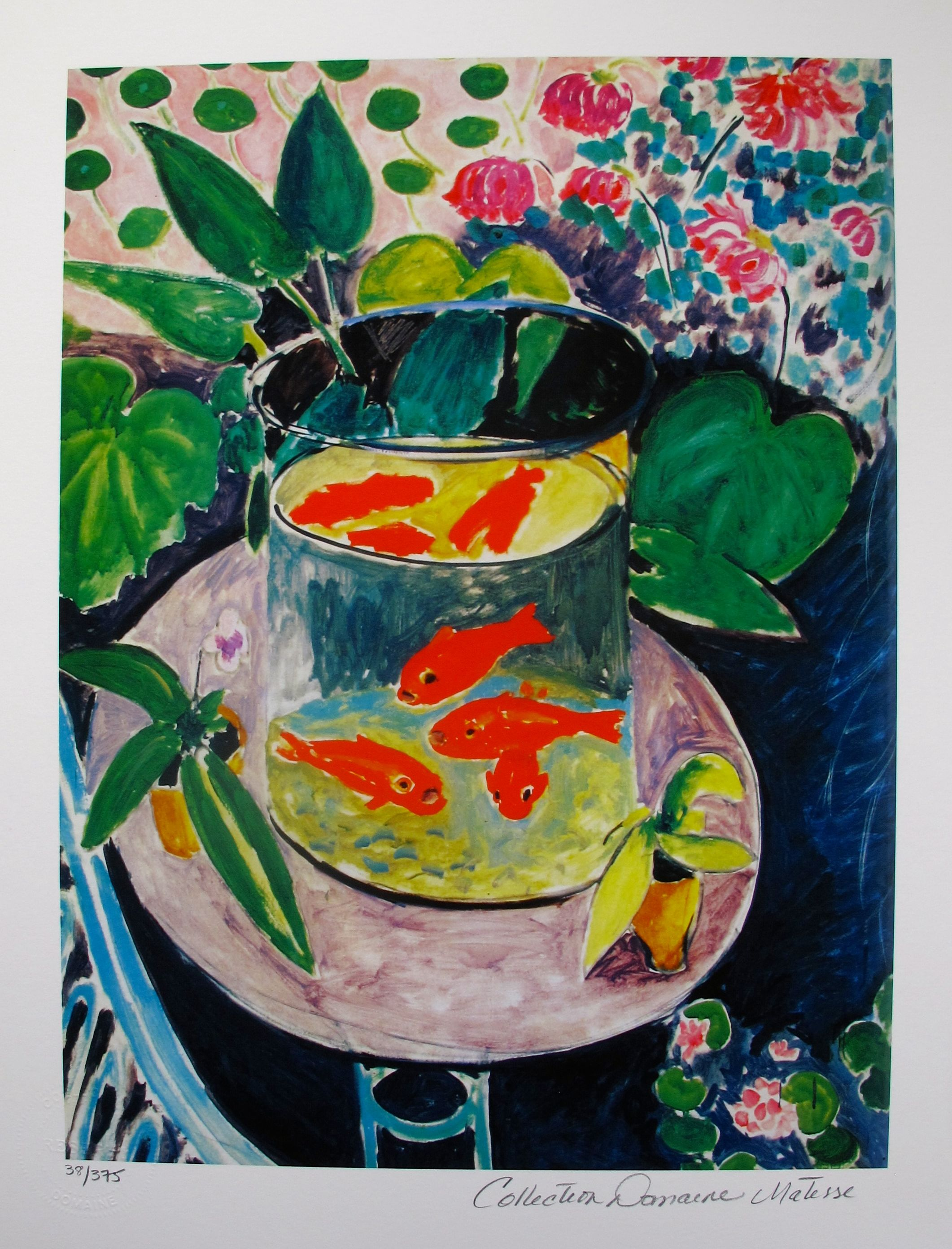 henri matisse goldfish estate signed limited edition giclee