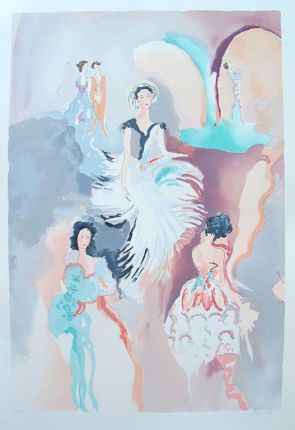 Jane Bazinet BALLET VISIONS Hand Signed Limited Edition Serigraph