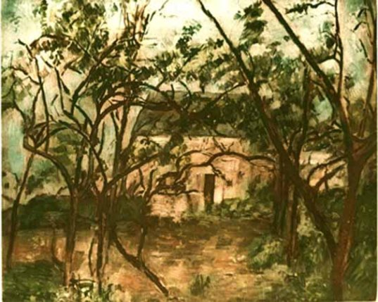 Paul Cezanne LA MAISON RUSTIQUE Ambroise Vollard Estate Etching
