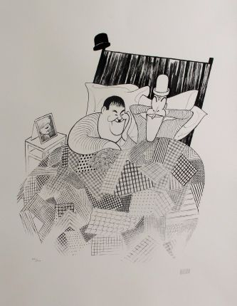 AL HIRSCHFELD LAUREL & HARDY SWEET DREAMS Hand Signed Limited Edition Lithograph
