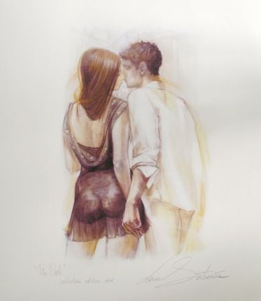 "LENA SOTSKOVA ""THE DATE"" Hand Signed Limited Ed. Giclee Study on Paper"