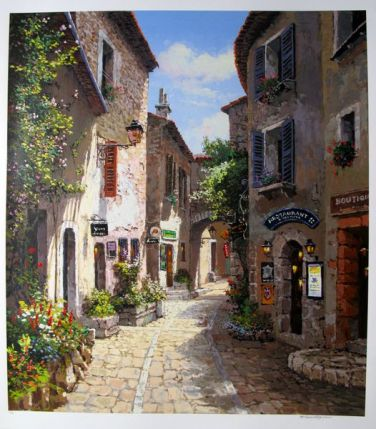 Sam Park MORNING IN PROVENCE Hand Signed Limited Ed. Serigraph
