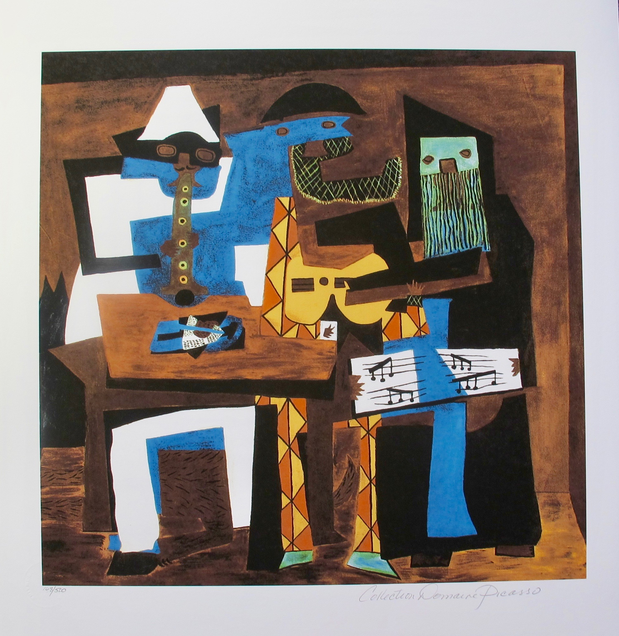 13 Three Musicians Pablo Picasso Estate Signed Giclee