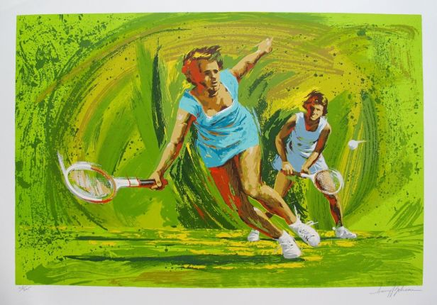 Harry Schaare TENNIS Hand Signed Limited Edition Serigraph